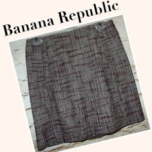 Tweed Mini Skirt Banana Republic
